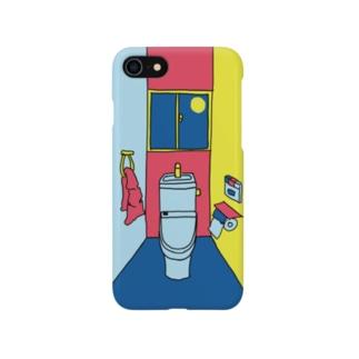 カラフルな一室のトイレ Smartphone cases