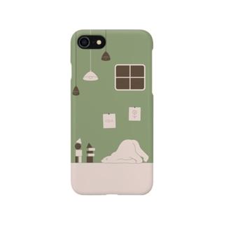 シロクマと積み木 1 Smartphone cases