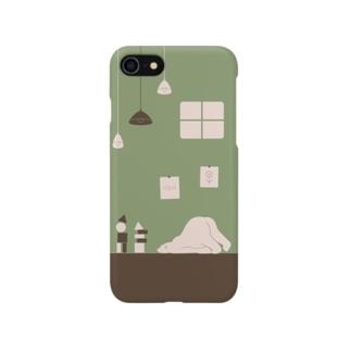 シロクマと積み木 2 Smartphone cases