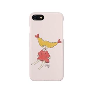 さかもとこのみのグッズやさんのエビフライの女の子 Smartphone cases