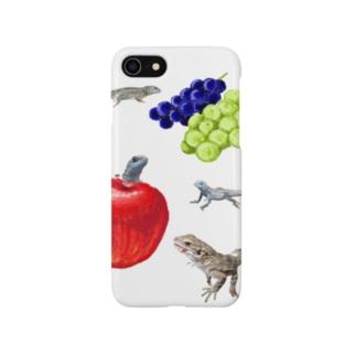 イグアナとフルーツ Smartphone cases