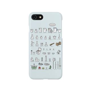 【iphone向け】ビーカーくんとそのなかまたちA スマートフォンケース
