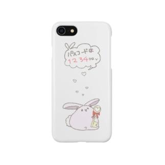 もぷ_ないしょの話スマホケース Smartphone cases