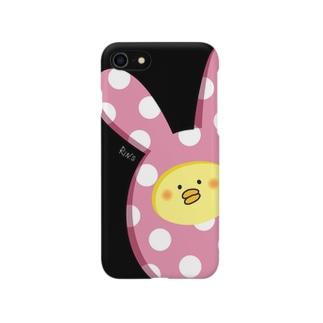着ぐるみヒヨコのiPhoneケース(黒色) Smartphone cases