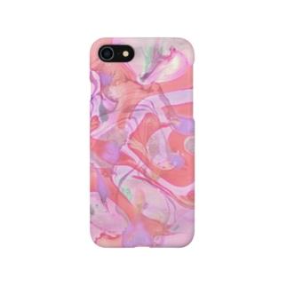 「フラミンゴダンス」 Marble Smartphone cases