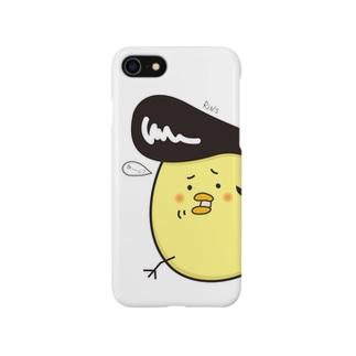 ツッパリひよこのiPhoneケース(白色) Smartphone cases