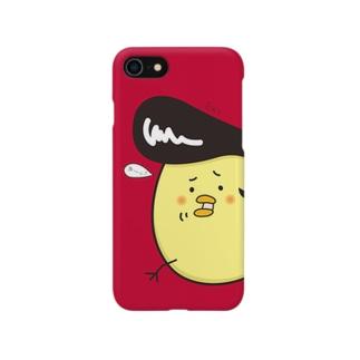 ツッパリひよこのiPhoneケース(赤色) Smartphone cases