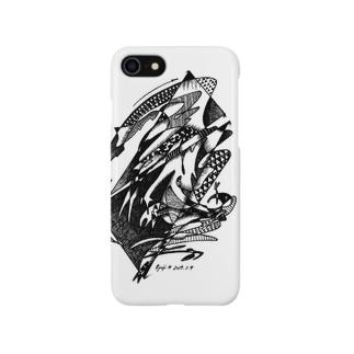White Stork / コウノトリ Smartphone cases