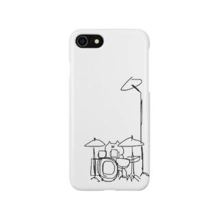 シンバルがめっちゃ高いねこ Smartphone cases