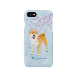 柴犬(花吹雪・王冠) Smartphone cases