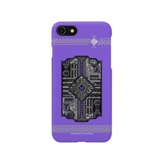 ドットCIRCUIT-001 HEART-MURASAKI Smartphone cases
