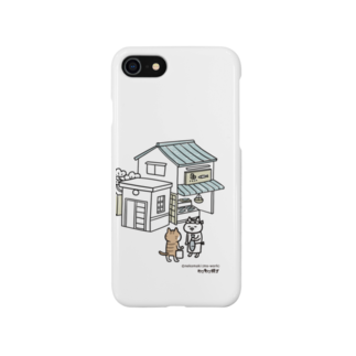 ねこねこ横丁のおさかなやさん(ねこまき先生) Smartphone cases
