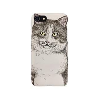 ねこのみつお Smartphone cases