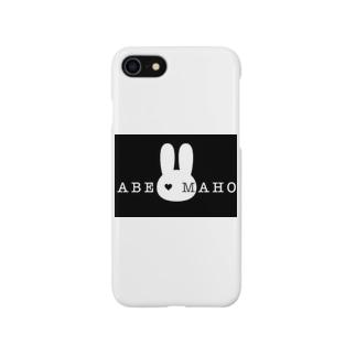 阿部真穂 新ロゴ 黒バージョンです! Smartphone cases