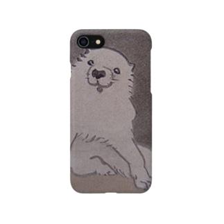 鳥獣戯画の犬 Smartphone cases