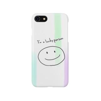 ラッキー人間 Smartphone cases