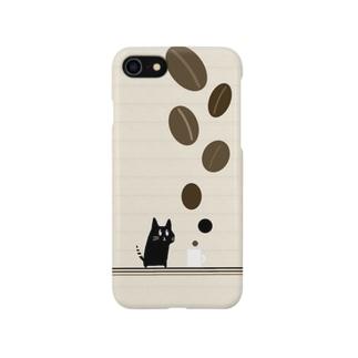 猫とコーヒー Smartphone cases