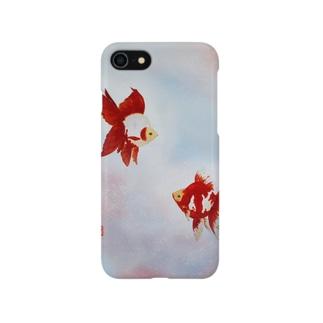 【金魚】更紗琉金 Smartphone cases