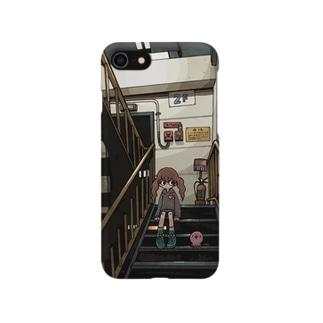 よくある風景・パーキングの階段 Smartphone cases