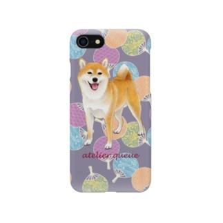 柴犬(うちわ) スマートフォンケース