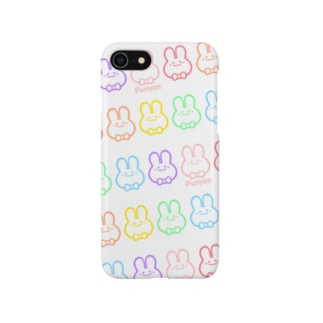 レインボーぷにょん。 Smartphone cases