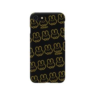 ブラック×ゴールドぷにょん。 Smartphone cases