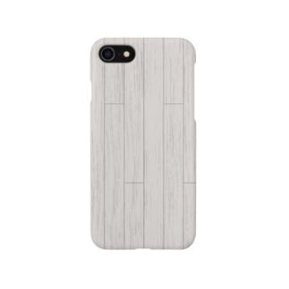 白いフローリング Smartphone cases