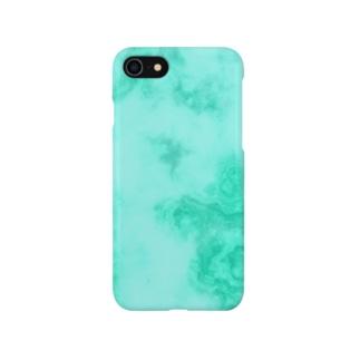 大理石ミントグリーン Smartphone cases
