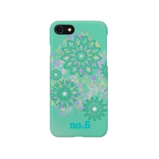No.5 turquoise Smartphone cases