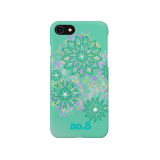 86ka factoryのNo.5 turquoise Smartphone cases