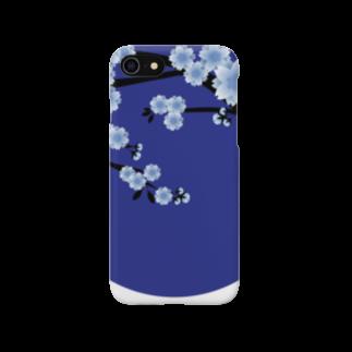 青月の青月【寒桜】 スマートフォンケース