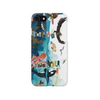 知床の海の生きものたち Smartphone cases