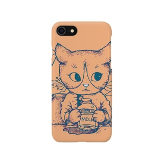 ジョバンニとミルク(ピーチピンク) Smartphone cases