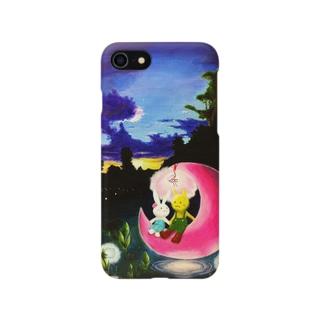 月の浮かぶ湖 Smartphone cases