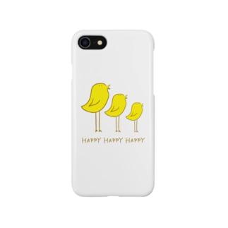 コンブのHappyな鳥 Smartphone cases