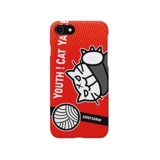 青春!ねこヤンキー(Red) Smartphone cases