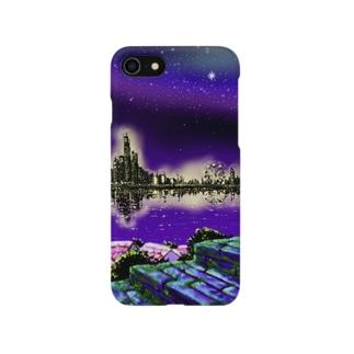 夜の散歩道① Smartphone cases