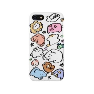 もくもくちゃんとなかまたちカラー Smartphone cases