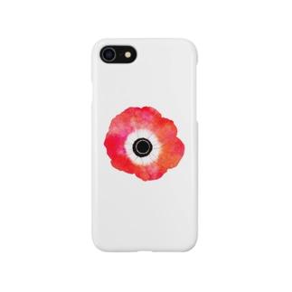 真っ赤なアネモネ Smartphone cases