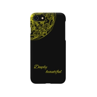 iPhoneケース 黒×黄色 Smartphone cases