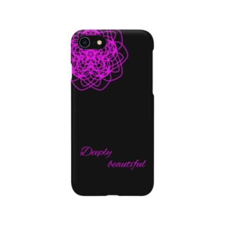 iPhoneケース 黒×ピンク Smartphone cases
