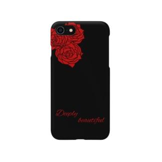 iPhoneケース 赤いバラ Smartphone cases