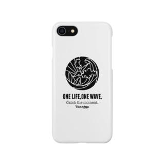 One Life, One wave.(ブラック) スマートフォンケース