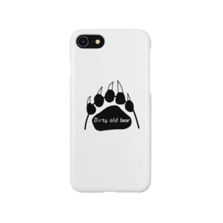 Dirty old bear(足跡黒) Smartphone cases