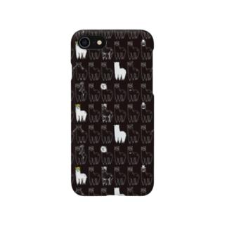 iPhoneケース(ドシパカ総柄・黒) スマートフォンケース