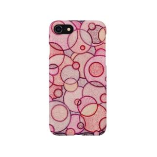 ぴんくのまるたち Smartphone cases