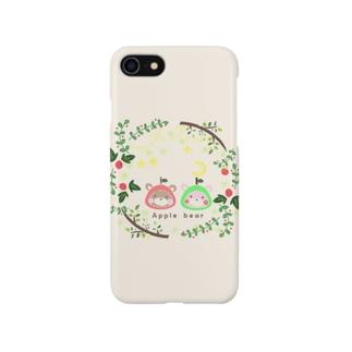 あっぷるべぁ 花輪 Smartphone cases