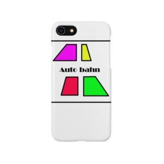 カラフルな台形4つ Auto bahn Smartphone cases