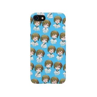 白竜スマホケース青背景 Smartphone Case
