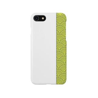 aozora-purasuの波模様 Smartphone cases